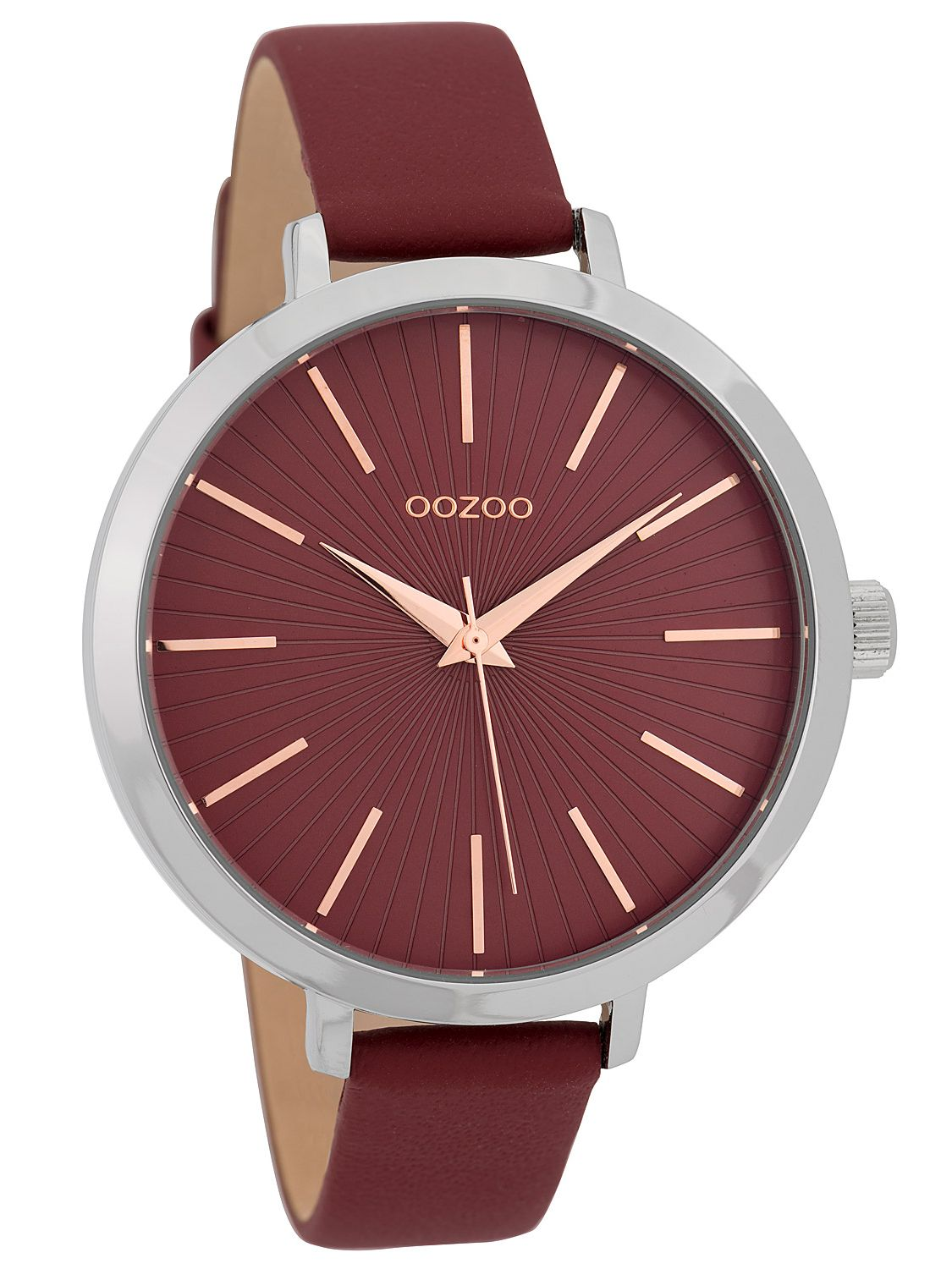 OOZOO Ladies  Watch Design Dial 42 mm Red C9673 • uhrcenter 95558f8d645