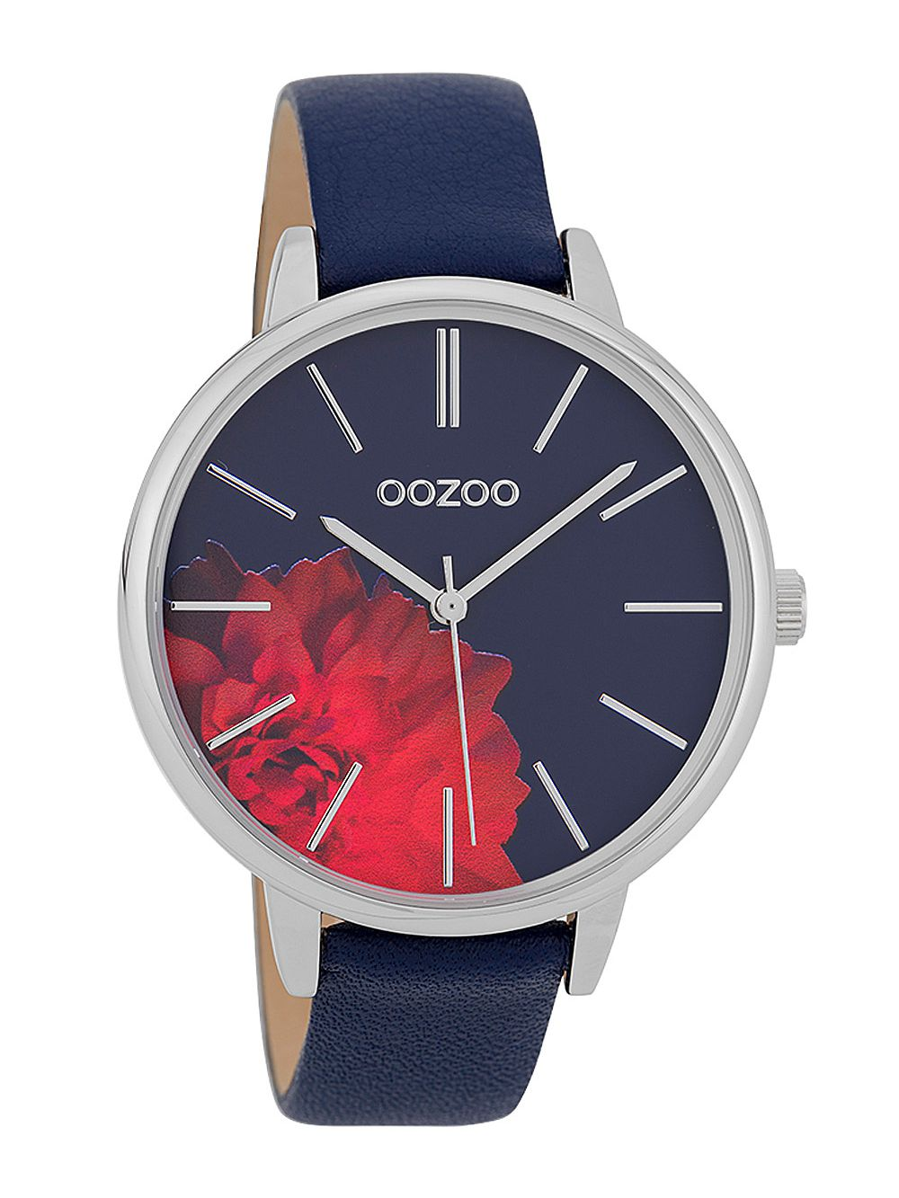 fa04cd93a OOZOO Ladies' Watch with Leather Strap Dark Blue 42 mm C9744