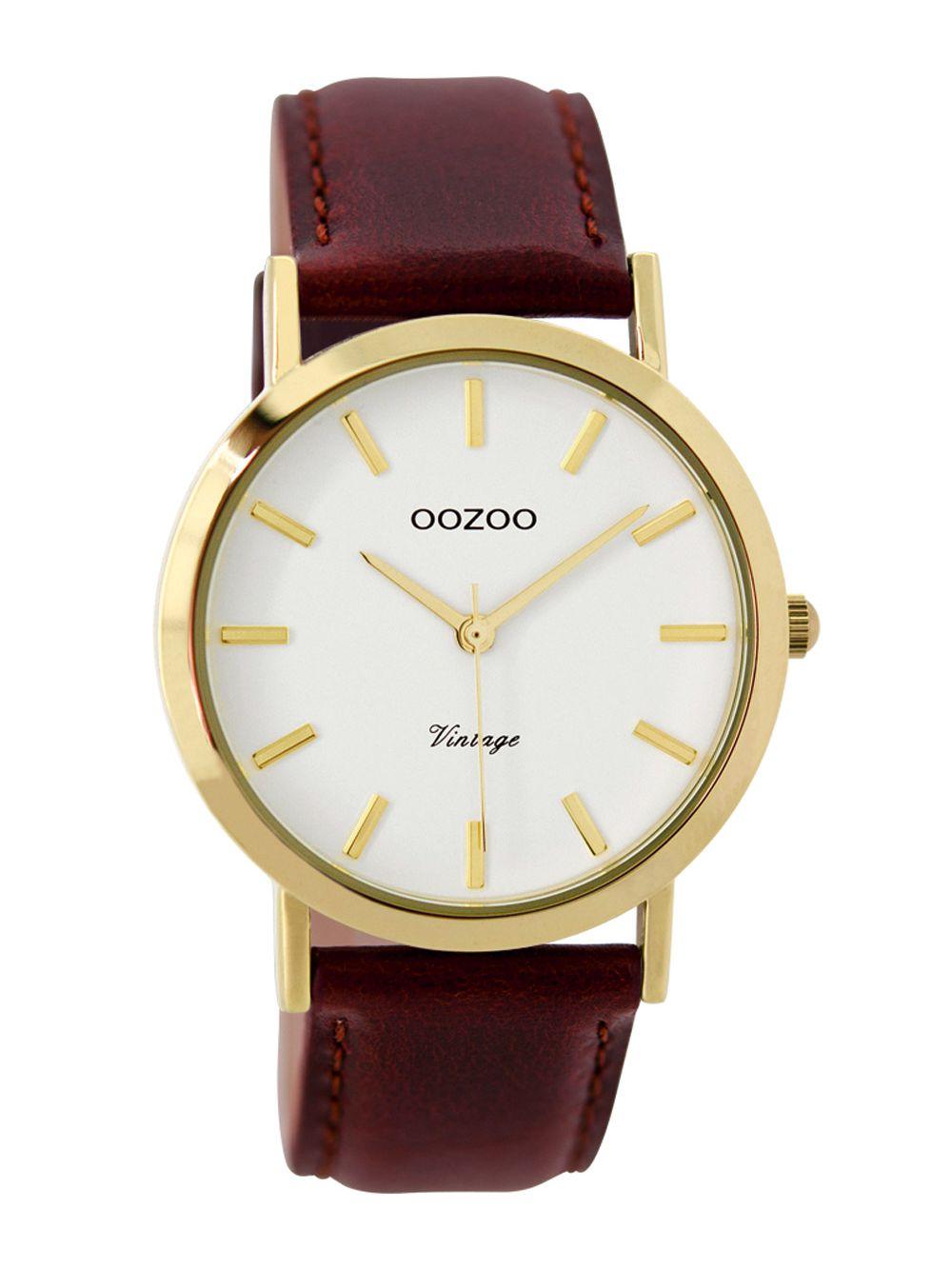 oozoo damen armbanduhr vintage gold braun 38 mm c7787. Black Bedroom Furniture Sets. Home Design Ideas