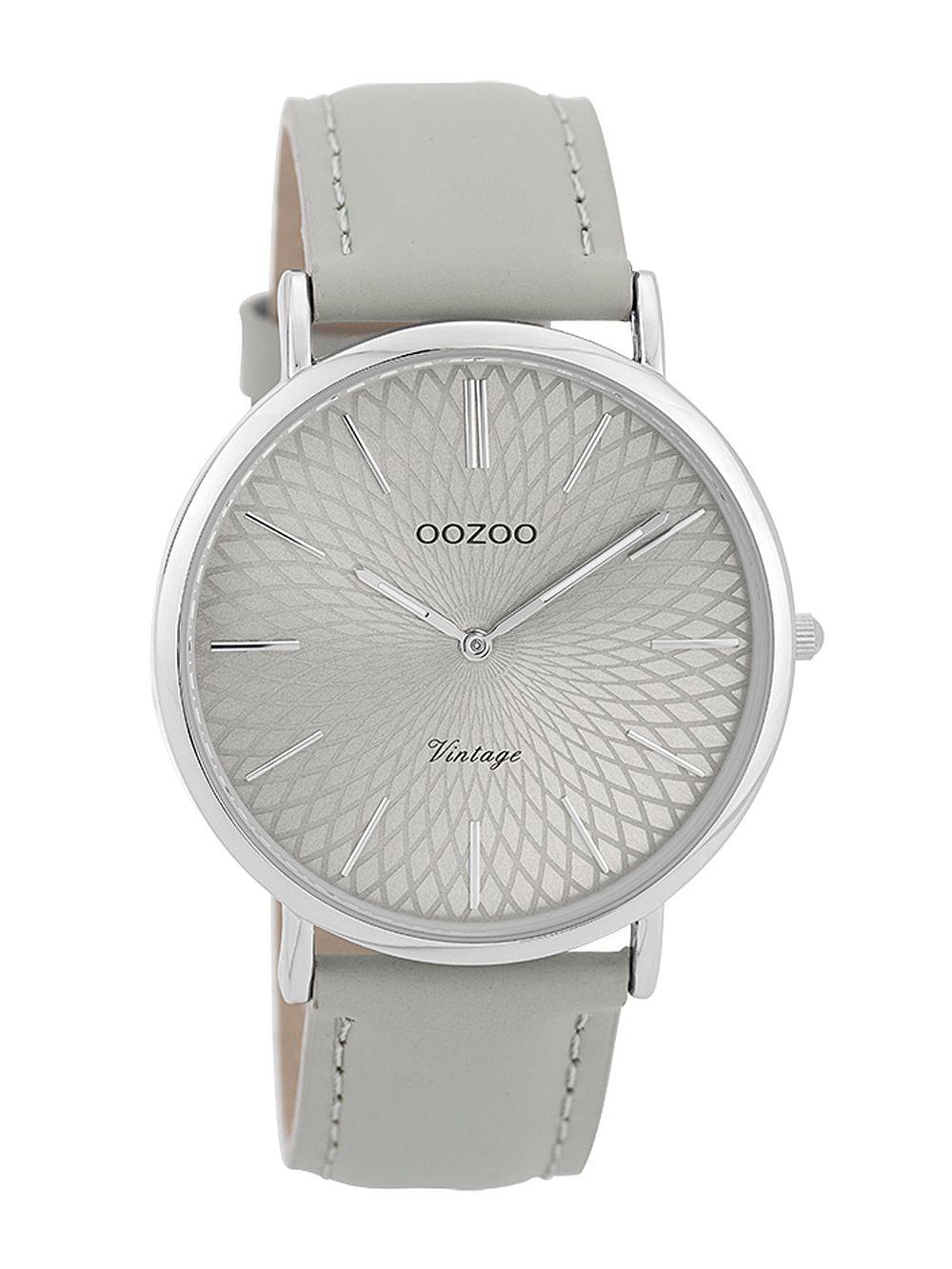 2ed06cf6d OOZOO Ladies' Watch Vintage Silver-Coloured/Grey 40 mm C9333
