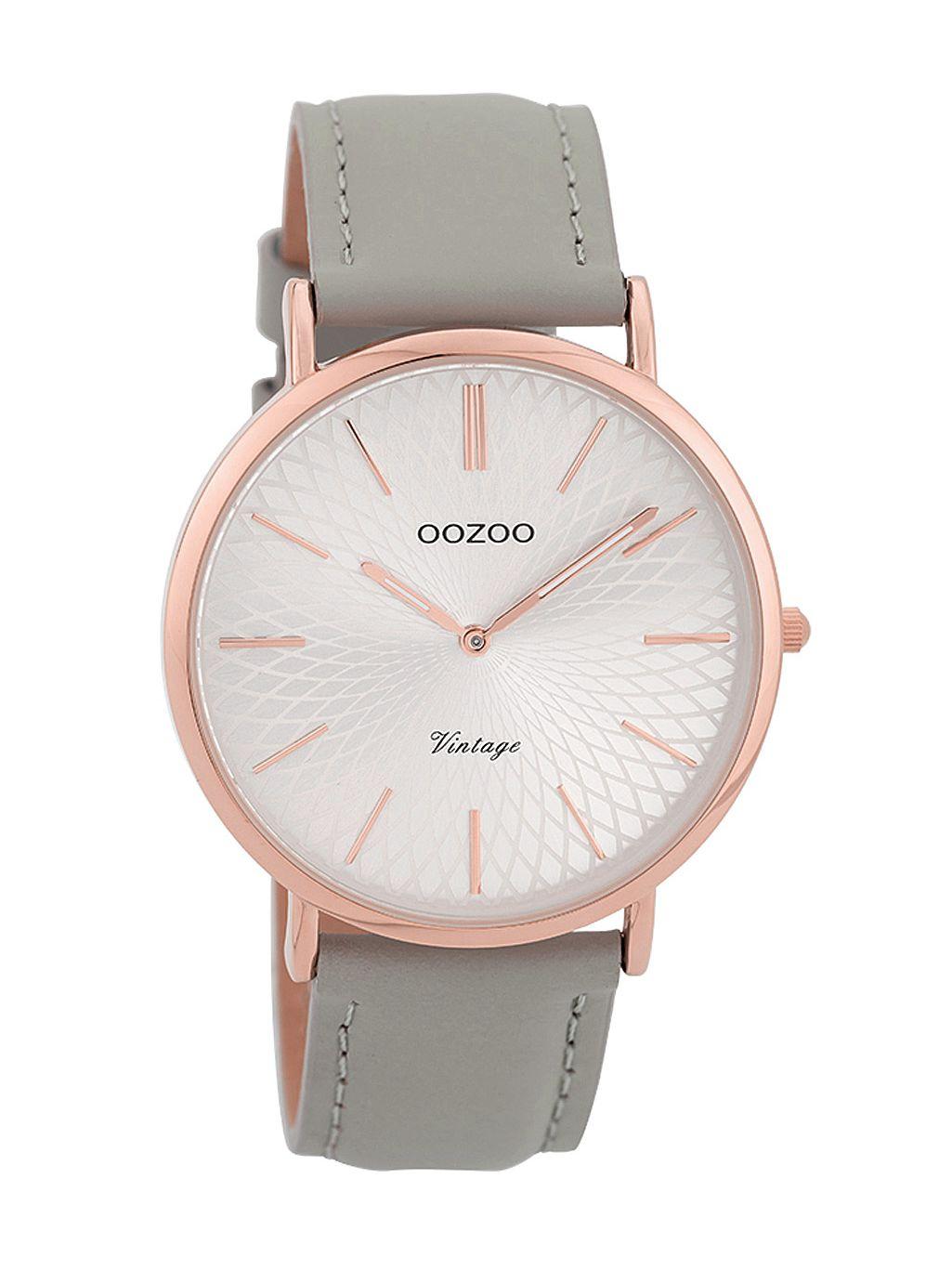 1c0287ea3 Oozoo Ladies' Watch Vintage Rose/Grey/Silver-Coloured 40 mm C9334