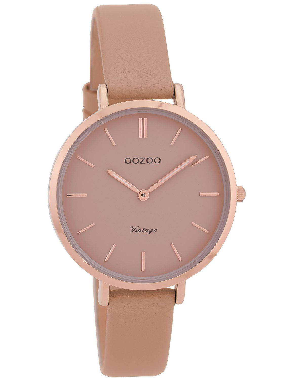 Oozoo Ladies  Watch Vintage Pink-Grey 34 mm with Leather Strap C9811 75b9a9a1edf
