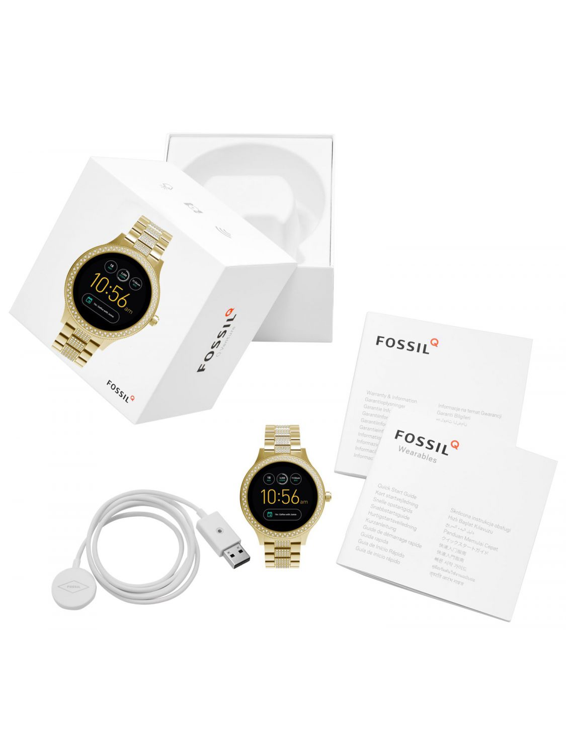 fossil q venture smartwatch touchscreen f r damen ftw6001. Black Bedroom Furniture Sets. Home Design Ideas