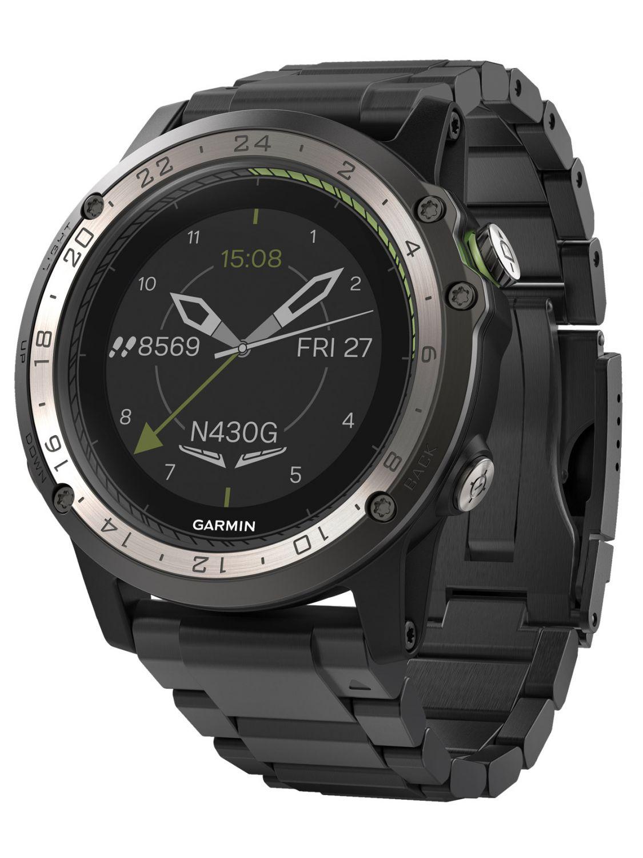 672b7fbe483 GARMIN Pilots Watch D2 Charlie GPS Titanium 010-01733-33