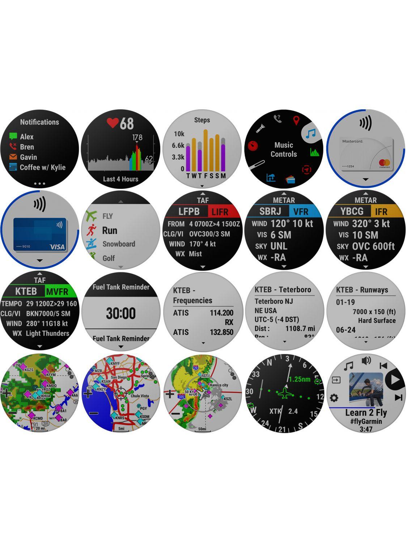 ed59083811a ... Garmin 010-01989-31 D2 Delta PX GPS Aviator Watch Smartwatch Image 4 ...