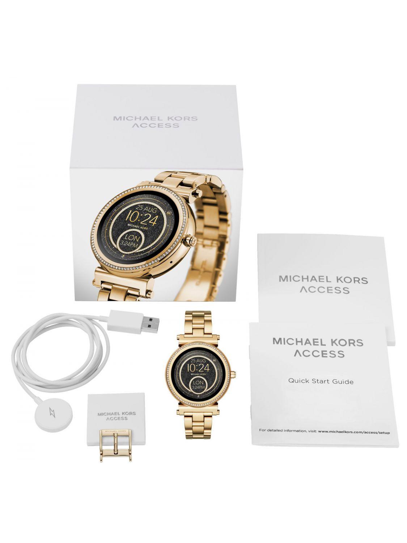 ... Michael Kors Access MKT5021 Ladies Smartwatch Sofie Pavé Gold-Tone  Image 4 97e7fbe7228