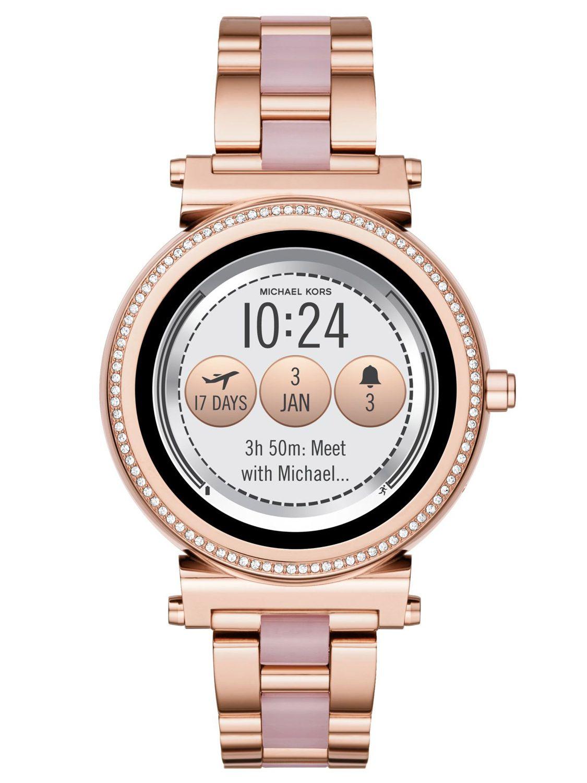 michael kors access damen smartwatch sofie ros gold mkt5041. Black Bedroom Furniture Sets. Home Design Ideas