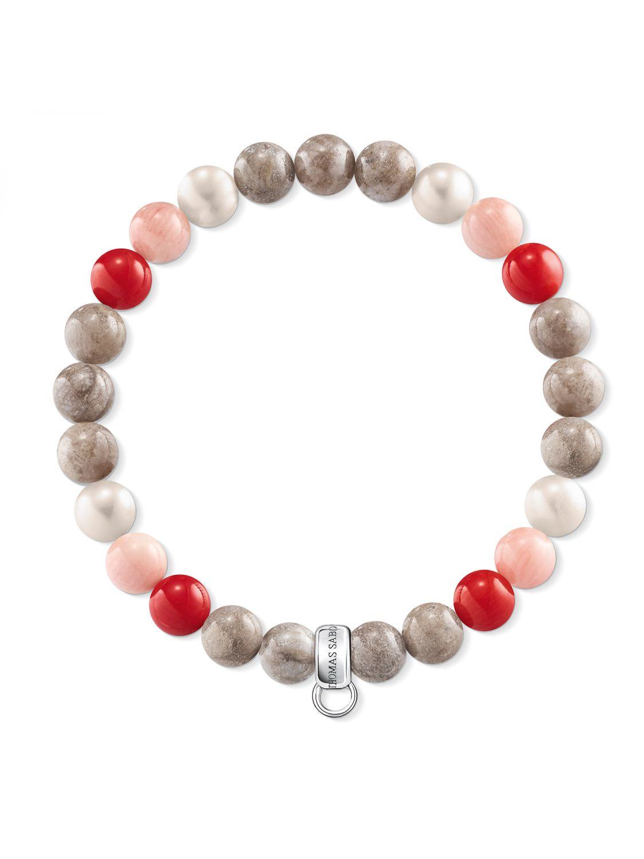 Thomas Sabo Charms Bracelet Red, White, Brown X0212-943-7