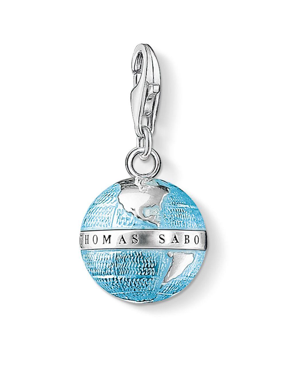 Thomas Sabo Charm pendant globe blue 0754-007-1 Thomas Sabo MTU7kYWEH7