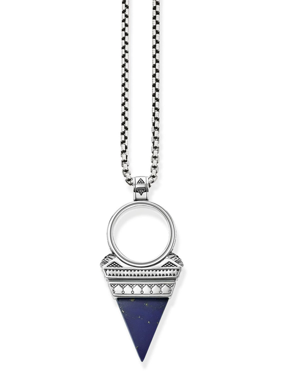 defc25ac7c4c Thomas Sabo KE1780-531-1-L55v Men s Necklace Triangle Blue Image ...