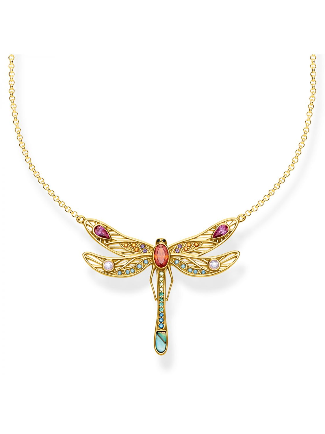 5080394bd91 Thomas Sabo KE1838-316-7-L45v Ladies´ Necklace Dragonfly large Image 1 ...