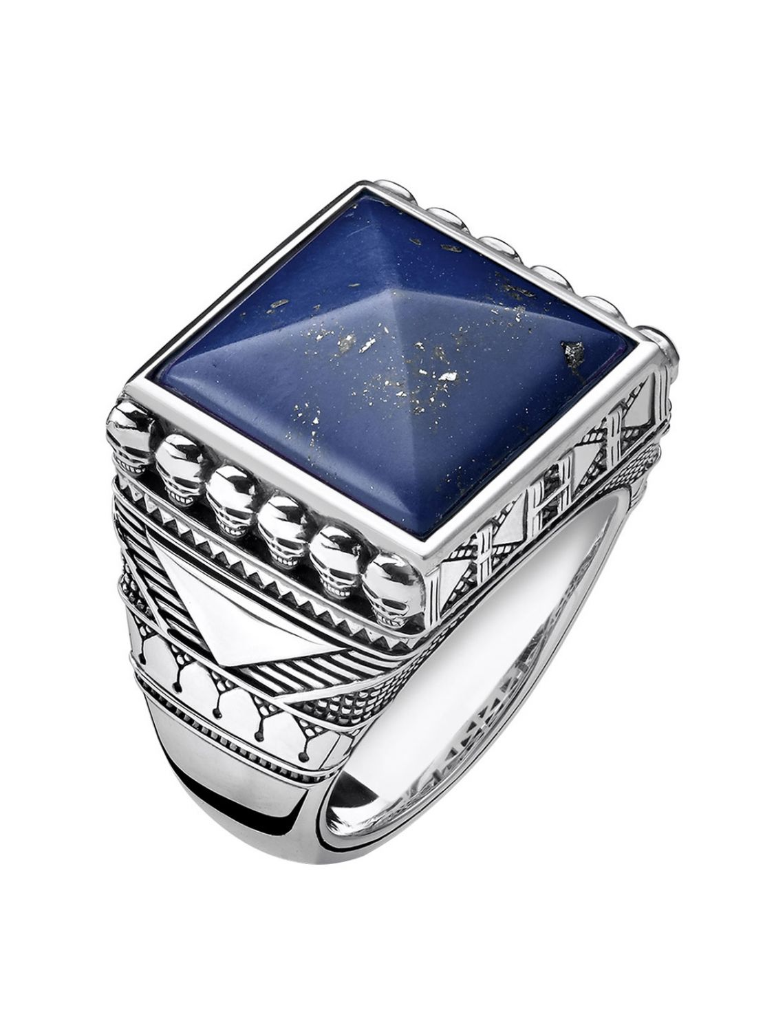 e39f822df57b Thomas Sabo Men´s Ring Ethno Death´s Heads blue TR2206-531-1