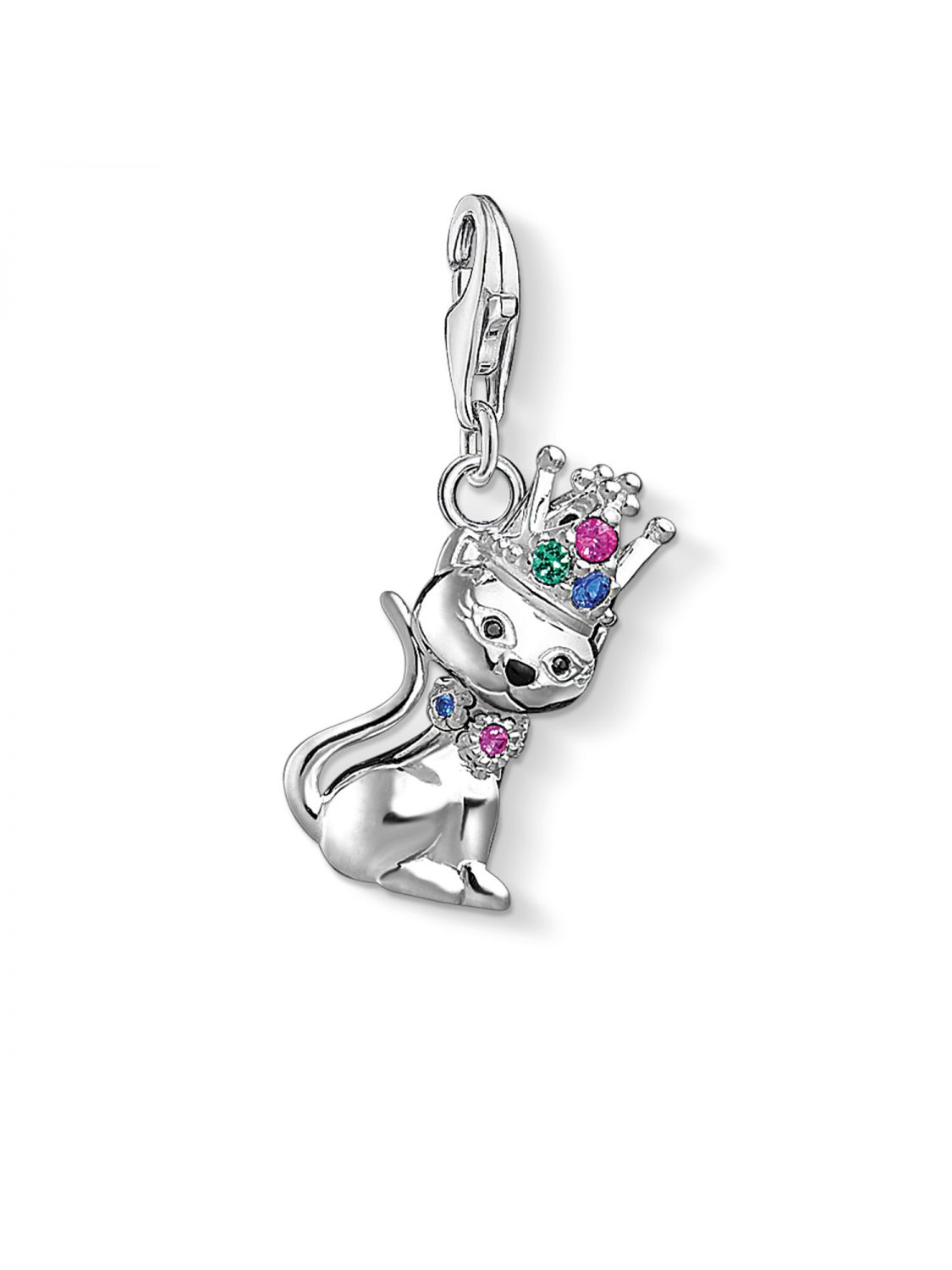 Thomas Sabo Charm pendant Cat with crown multicoloured 1486-338-7 Thomas Sabo sEcfhgjKl