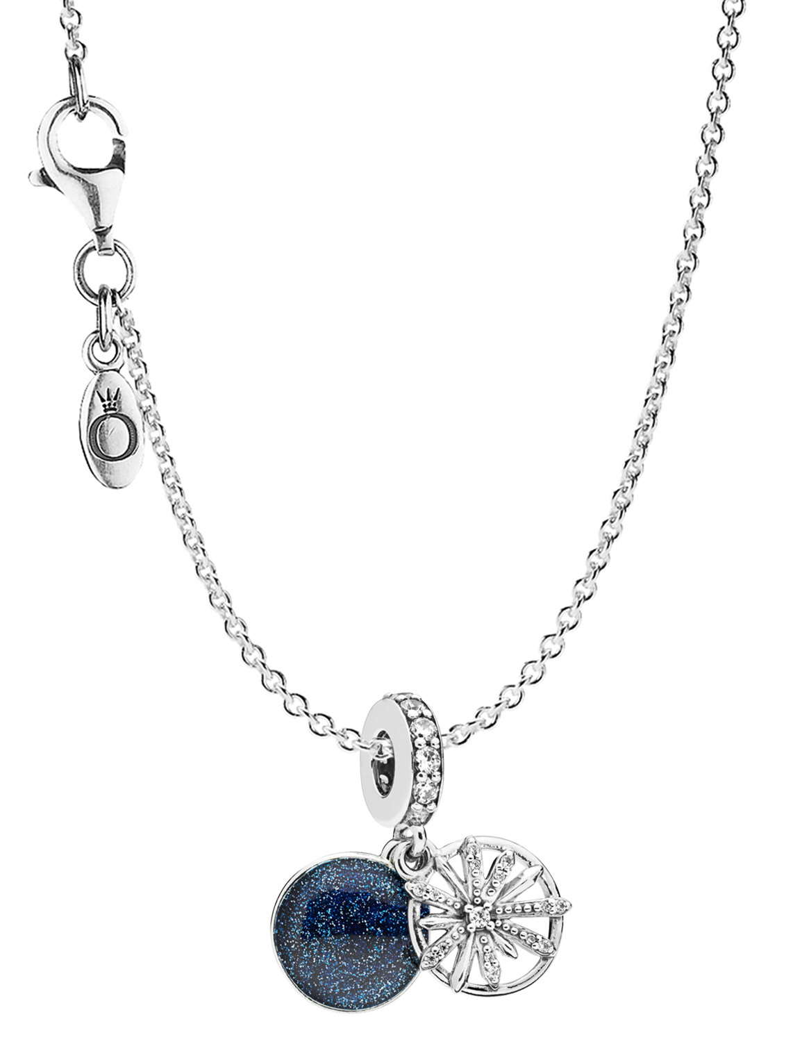 64daa2aaa PANDORA Necklace with Charm Dazzling Wishes 08695