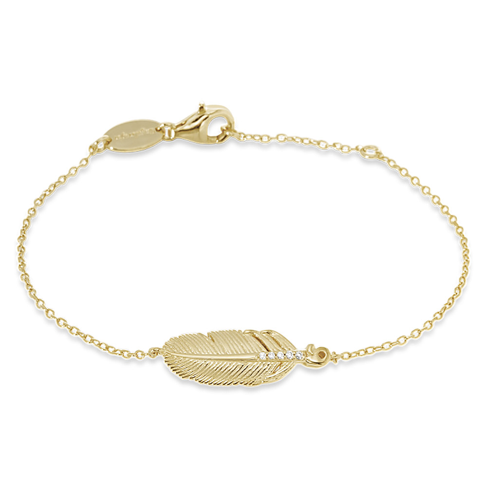 ENGELSRUFER Ladies Bracelet Feather ERB-LILFEDER-ZI-G