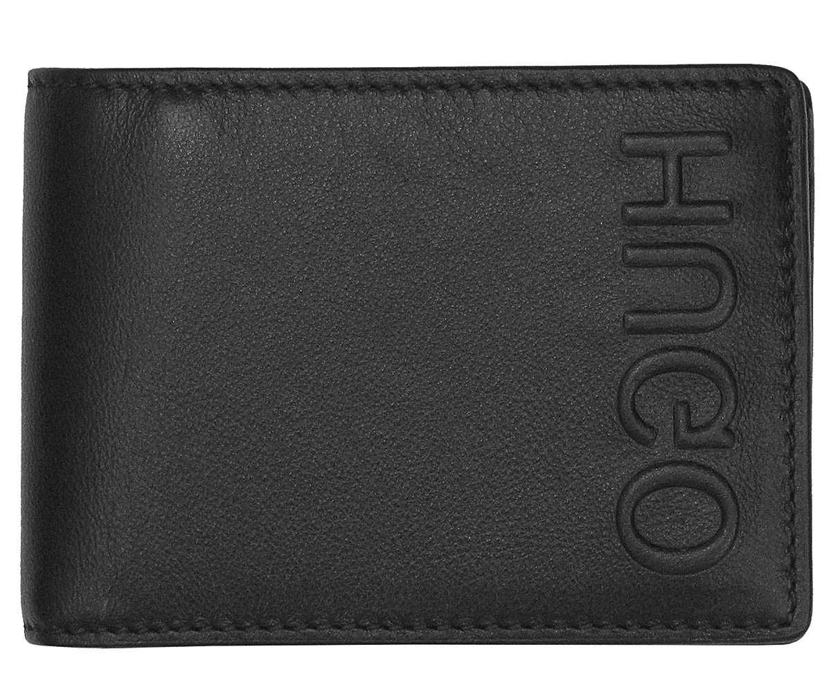 HUGO 50397402 Men s Leather Wallet Bolster Black • uhrcenter 2b92b0c3d9