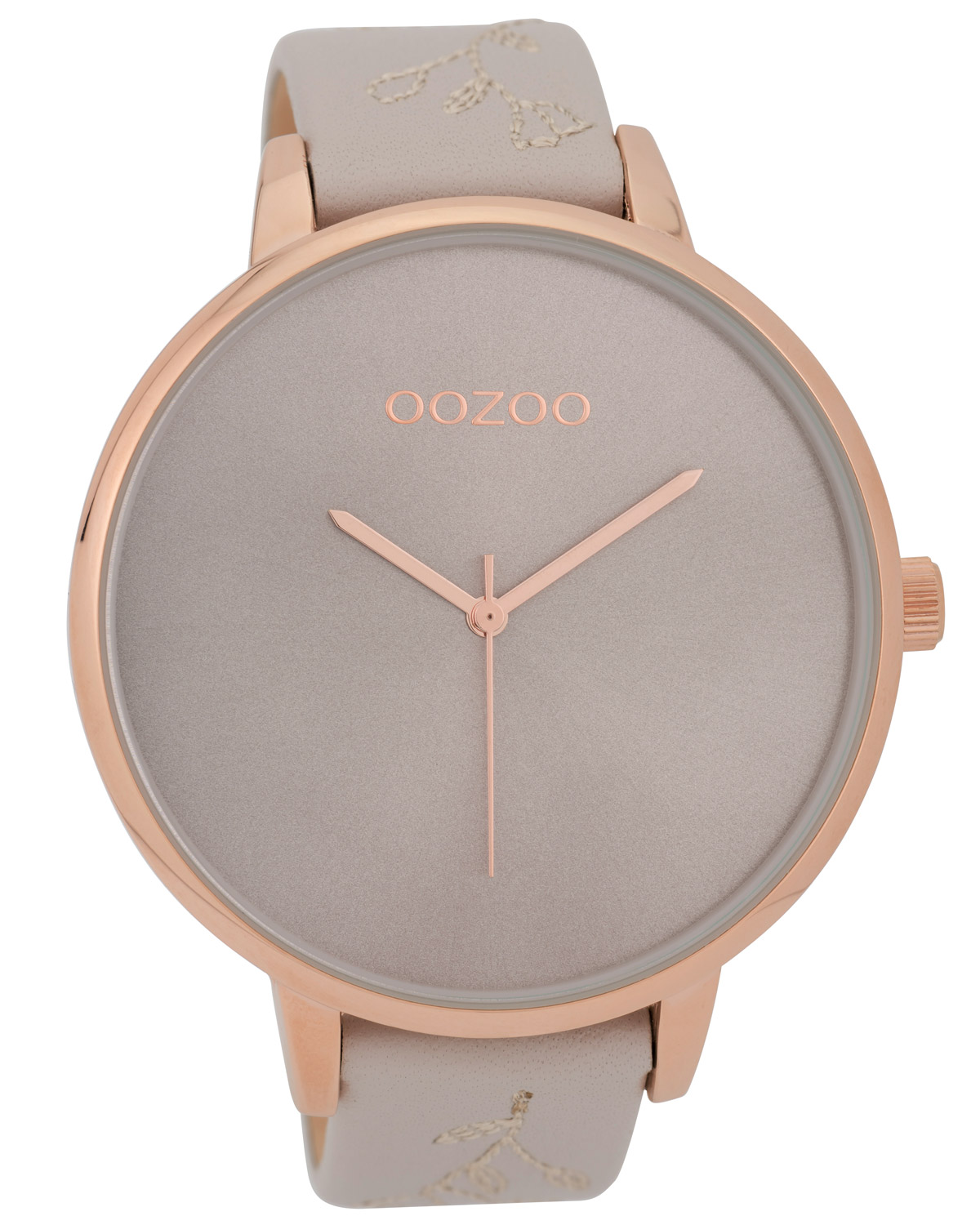 Oozoo XL Ladies  Watch with Leather Strap Light Grey 48 mm C9715 f8d99625ad1
