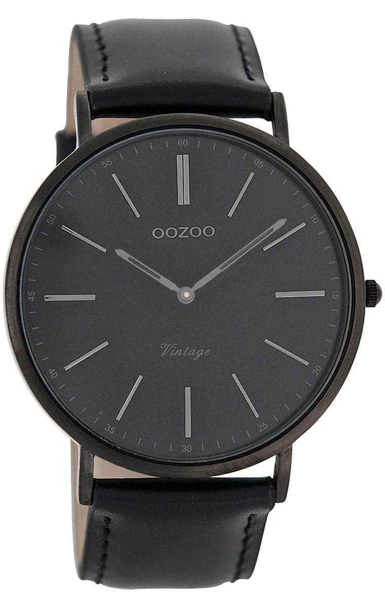 oozoo vintage armbanduhr schwarz 44 mm c7301 uhrcenter. Black Bedroom Furniture Sets. Home Design Ideas