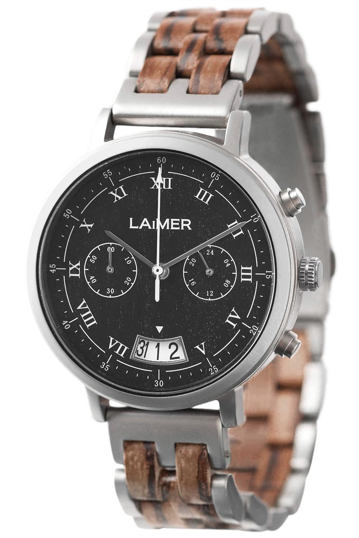 laimer herren chronograph leon 0080 uhrcenter uhren shop. Black Bedroom Furniture Sets. Home Design Ideas