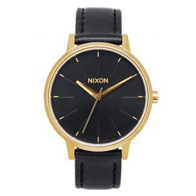 Nixon A108 513 Kensington Leather Gold/Black Damenuhr 3608700640549