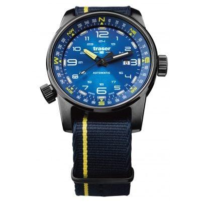traser H3 107719 Herrenuhr P68 Pathfinder Automatik Blau 7630027703658